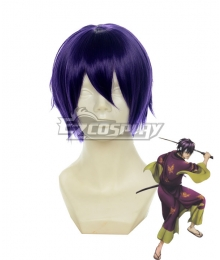Gintama Takasugi Shinsuke Purple Cosplay Wig 123A