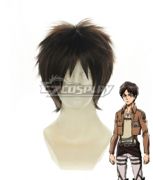 Attack on Titan Shingeki no Kyoji 104th Trainees Squad Survey Corps Eren Yeager Eren Yega Eren Jaeger Short Black Gair Cosplay Wig 320G