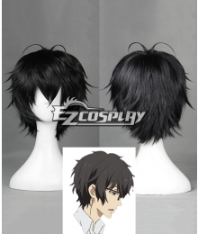 Aoharu x Machinegun Aoharu x Kikanjuu Tooru Yukimura Toy ☆ Gun Gun Team Black Short Cosplay Wig - 390B