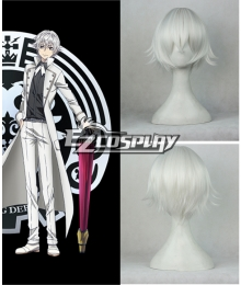 K RETURN OF KINGS Yashiro Isana Short White Cosplay Wig -306D