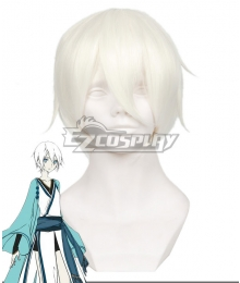 VOCALOID The Age of Sword and Blade Yan He White Cosplay Wig 411C