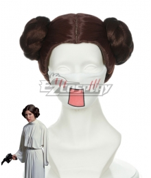 Star Wars Princess Leia Organa Solo Brown Cosplay Wig 405B