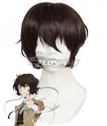 Bungou Stray Dogs Osamu Dazai Dark Brown Cosplay Wig 409C