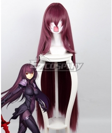 Fate Grand Order Lancer Scathach Dark Purple Cosplay Wig