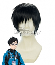 Yuri on Ice YURI!!!on ICE Katsuki Yuuri Black Cosplay Wig 430B