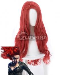 DC Aquaman 2018 Movie Mera Red Long Curls Cosplay Wig - 405F