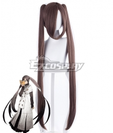 Fate Grand Order FGO Akuta Hinako Grey Brown Cosplay Wig - 235EE