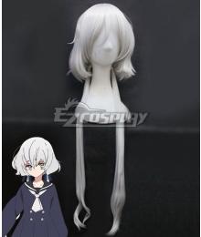 Zombieland Saga Konno Junko White New Edition Cosplay Wig