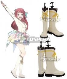 Zombieland Saga Minamoto Sakura Nikaidou Saki Mizuno Ai Konno Junko Hoshikawa Lily Yamada TaeYuugiri White Shoes Cosplay Boots