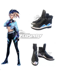 League Of Legends LOL 2020 K/DA KDA All Out Akali Black Cosplay Shoes