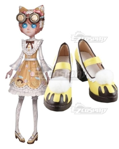 Identity V Mechanic Tracy Reznik Candy Girl Halloween Yellow Cosplay Shoes