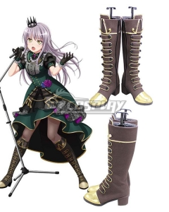 BanG Dream! Roselia Lofty Ambitions Minato Yukina Brown Shoes Cosplay Boots