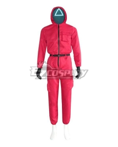 Squid Game Red Suit Halloween Cosplay Costume
