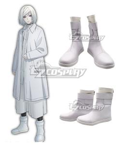 Akudama Drive Cutthroat Satsujinki White Cosplay Shoes