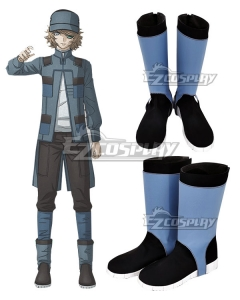 Akudama Drive Hacker Black Shoes Cosplay Boots