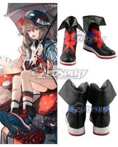 Arknights Cuora Quadrangle Black Cosplay Shoes