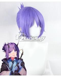 Arknights Hibiscus Purple Cosplay Wig