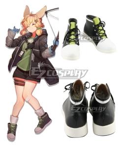 Arknights Kroos Black Green Cosplay Shoes