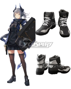 Arknights Liskarm Black Cosplay Shoes