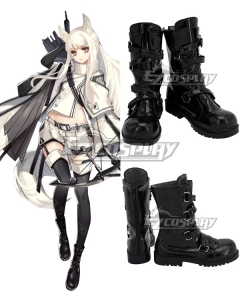 Arknights Platinum Black Shoes Cosplay Boots