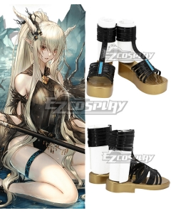 Arknights Shining CoralCoast Black Cosplay Shoes