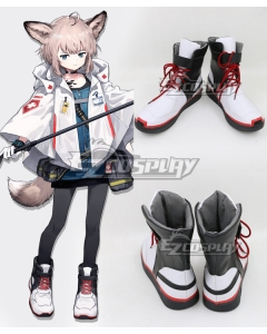 Arknights Sussurro Black White Shoes Cosplay Boots