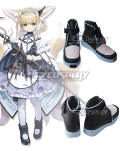 Arknights Suzuran Black Cosplay Shoes
