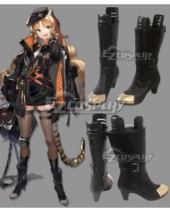 Arknights Swire Black Cosplay Shoes