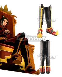 Avatar: The Last Airbender Azula Black Red Shoes Cosplay Boots