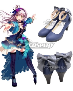 BanG Dream! Roselia Opera Of The Wasteland Minato Yukina Blue Cosplay Shoes
