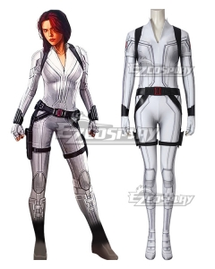 Marvel 2020 Movie Black Widow Black Widow White Suit Jumpsuit Cosplay Costume