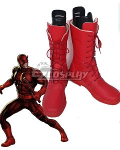 Marvel Daredevil Matt Murdock Daredevil Red Shoes Cosplay Boots