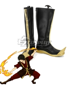 Avatar: The Last Airbender Zuko Black Shoes Cosplay Boots