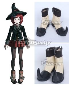 Danganronpa V3: Killing Harmony Himiko Yumeno Black Beige Shoes Cosplay Boots