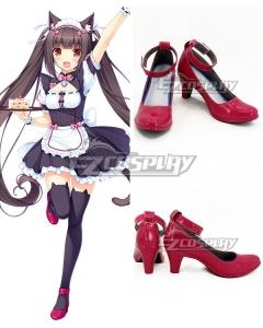 Nekopara Chocola Rose red Cosplay Shoes