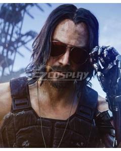 CyberPunk 2077 Johnny Silverhand Black Cosplay Wig