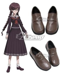 Dangan Ronpa Touko Fukawa Brown Cosplay Shoes