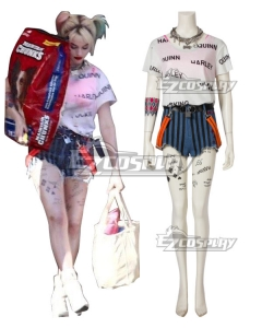 DC Birds of Prey Harley Quinn Cosplay Costume C Edition