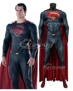 DC Superman Man of Steel Kal-El Clark Kent Zentai Jumpsuit Cosplay Costume