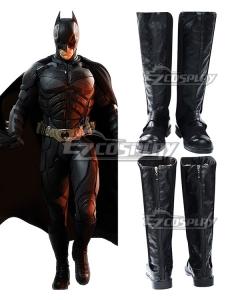 DC The Dark Knight Rises Batman Bruce Wayne Black Shoes Cosplay Boots