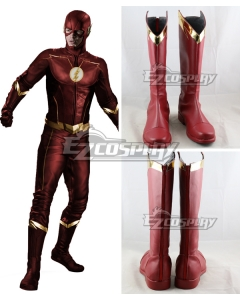 DC The Flash Season 4 Barry Allen Red Shoes Cosplay Boots