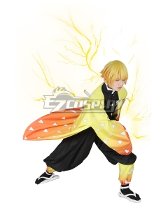 Demon Slayer: Kimetsu No Yaiba Agatsuma Zenitsu Cosplay Costume