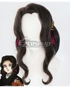 Demon Slayer: Kimetsu No Yaiba Kibutsuji Muzan Female Black Cosplay Wig