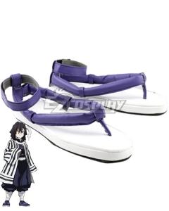 Demon Slayer: Kimetsu no Yaiba Obanai Iguro Purple Cosplay Shoes