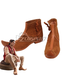 Disney 2019 Movie Aladdin Aladdin Brown Cosplay Shoes