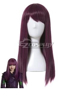 Disney Descendants 2 Mal Purple Cosplay Wig
