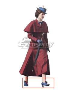 Disney Mary Poppins Blue Shoes Cosplay Boots