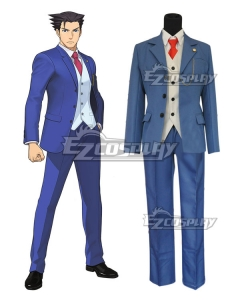 Ace Attorney Gyakuten Saiban Phoenix Wright Cosplay Costume