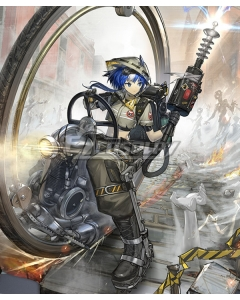 Arknights Glaucus Plaza Sweeper Cosplay Costume