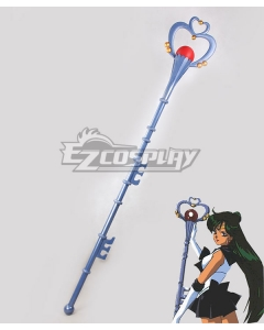 Sailor Moon Meiou Setsuna Sailor Pluto Blue Staves Cosplay Weapon Prop